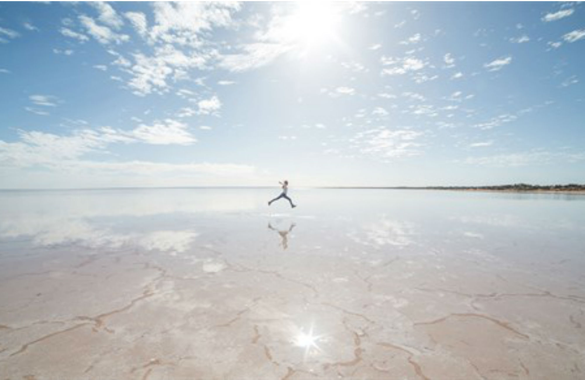 Sjön South Lake Eyre Australien