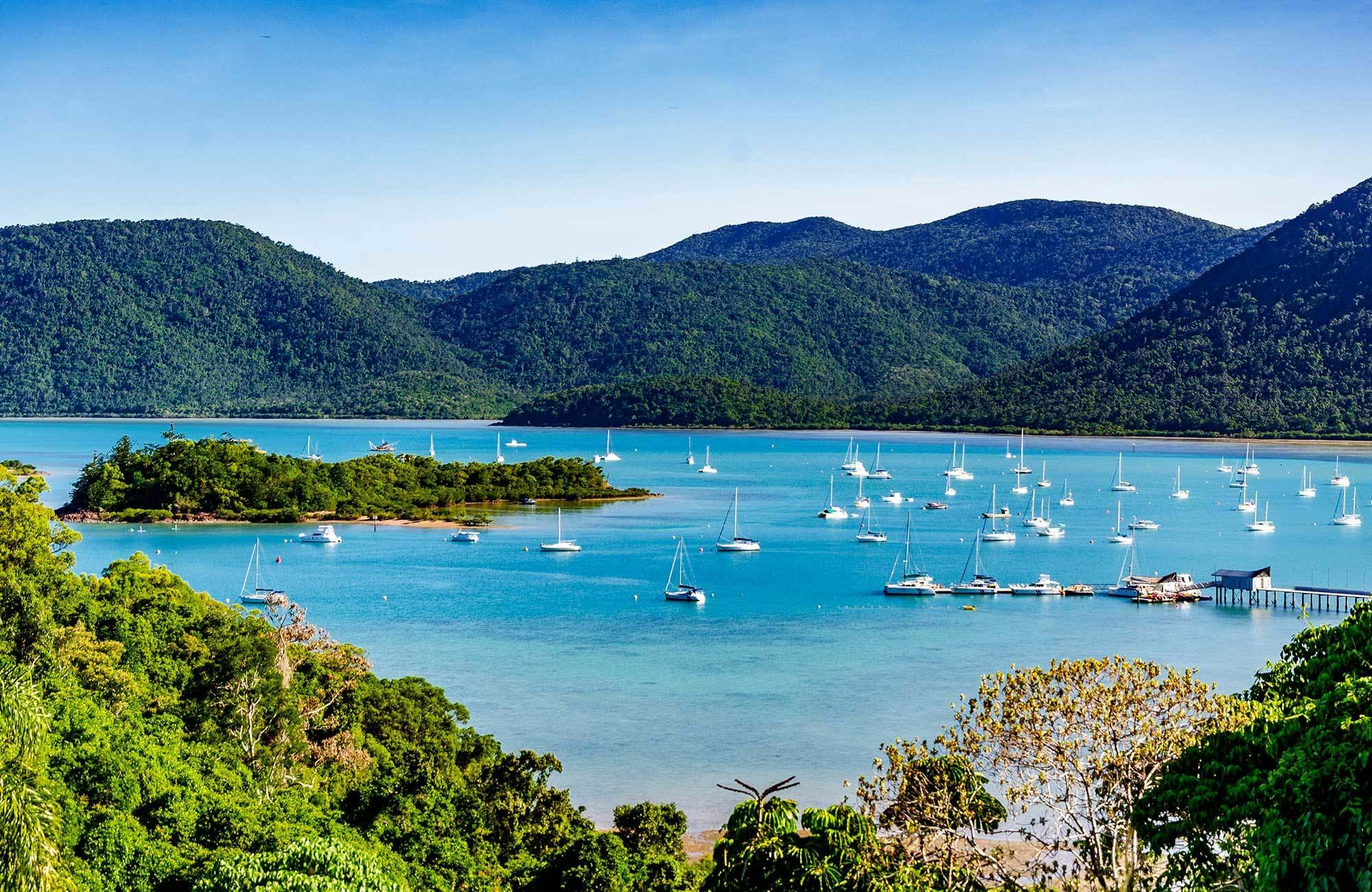 comway national park och shute harbor i whitsundays, australien