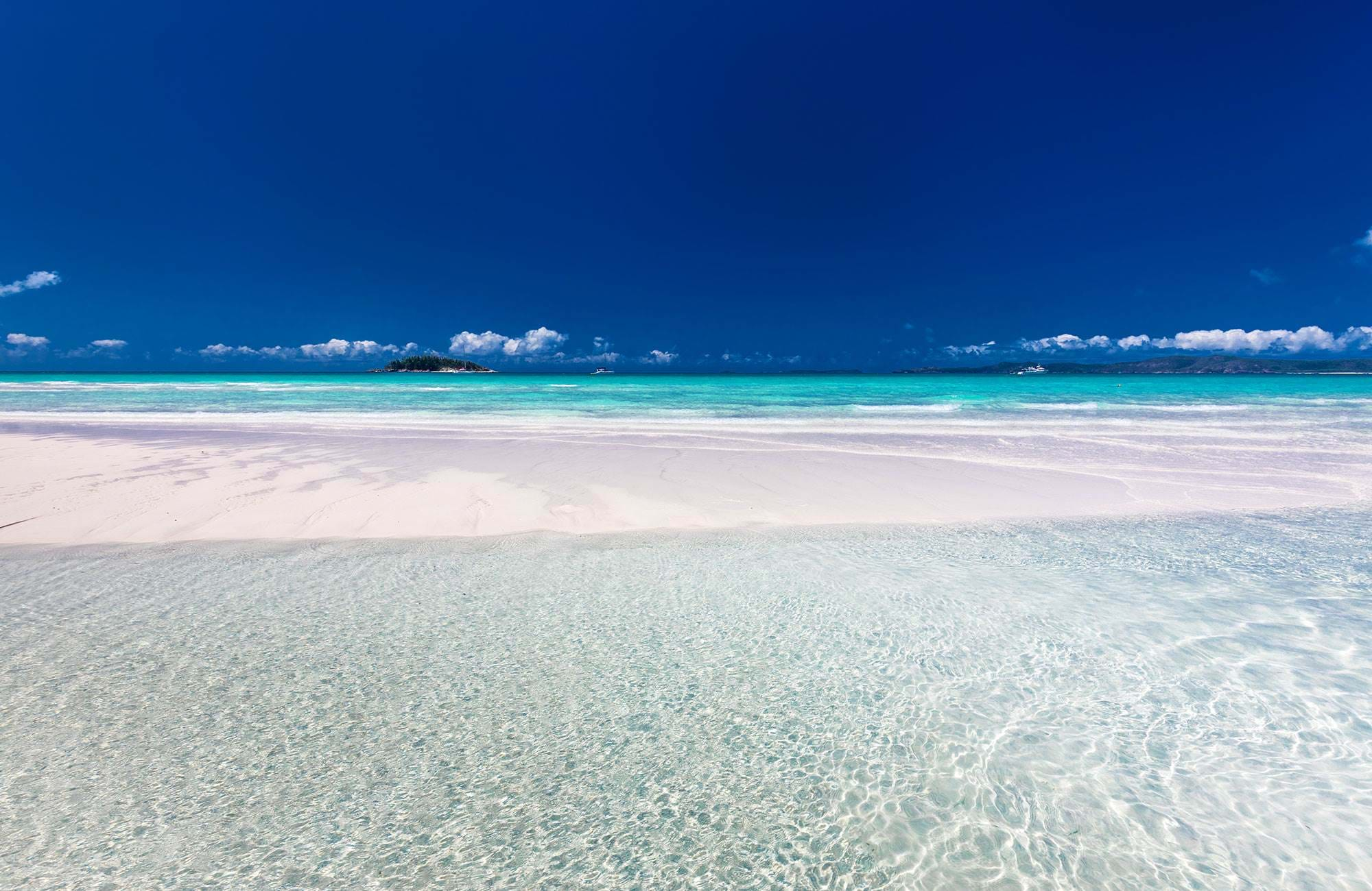 Withaven beach vid Whitsundays