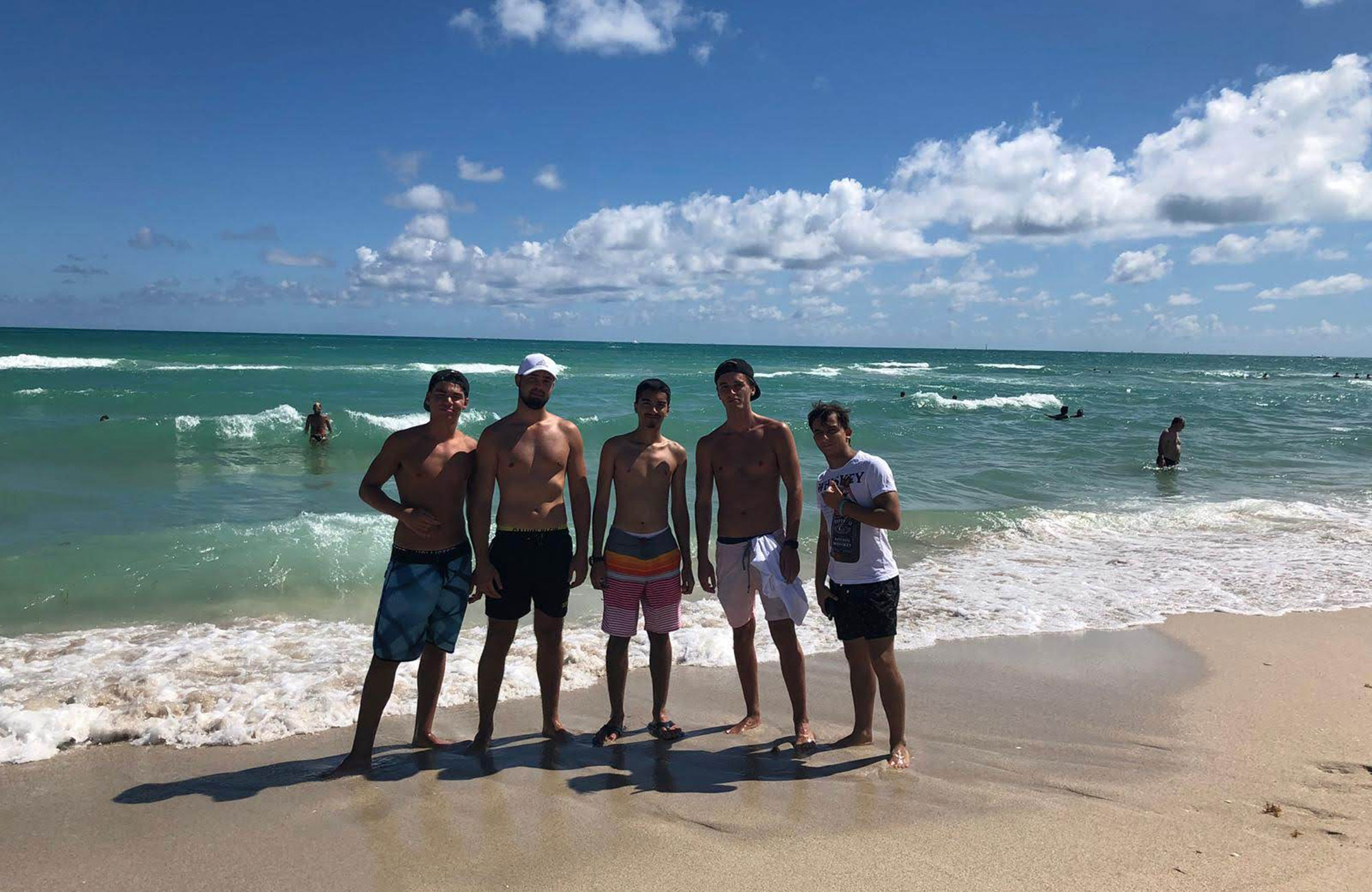 gavin with friends in florida