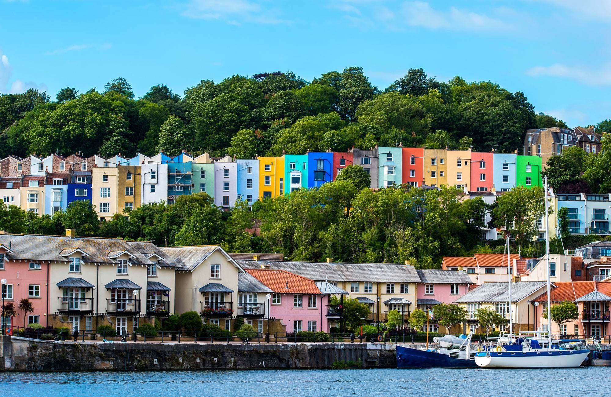 Bristol England Colored Houses