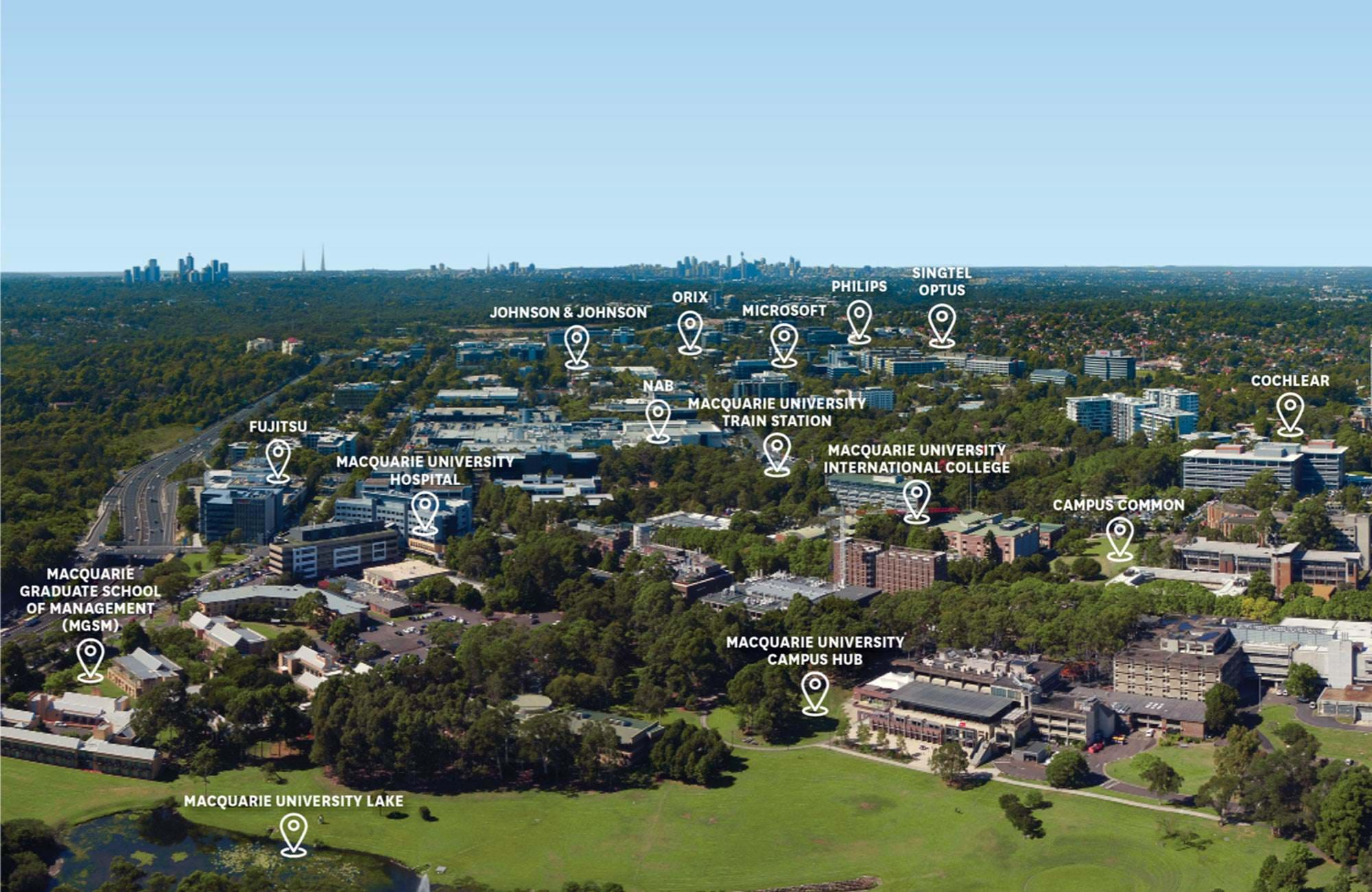 Macquarie University Campus Map