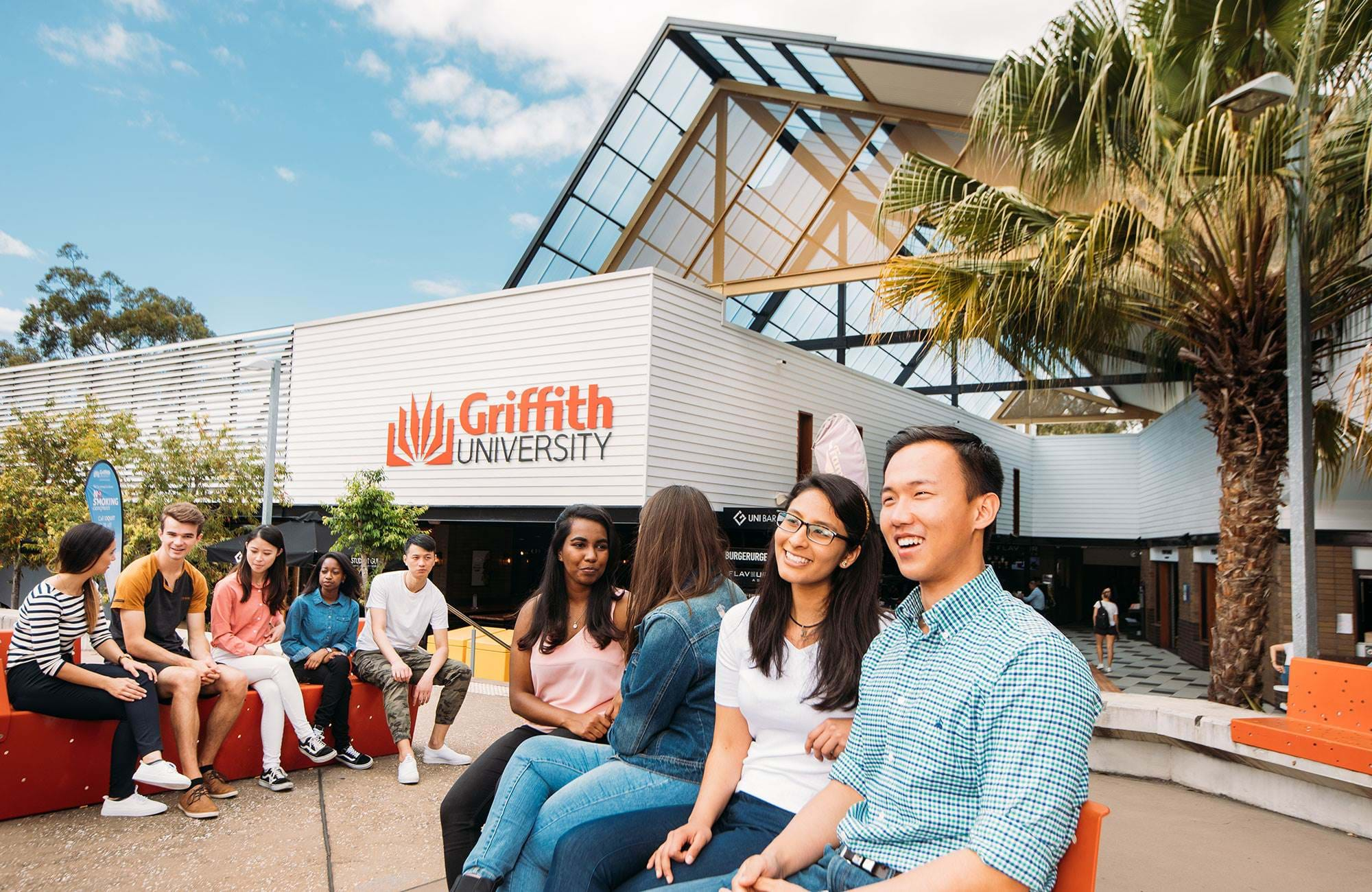 grupp av studenter vid griffith university